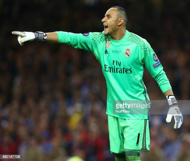 Keylor Navas of Real Madrid CF during the UEFA Champions League Final match between Real Madrid and Juventus at National Wales Stadium in Cardiff...