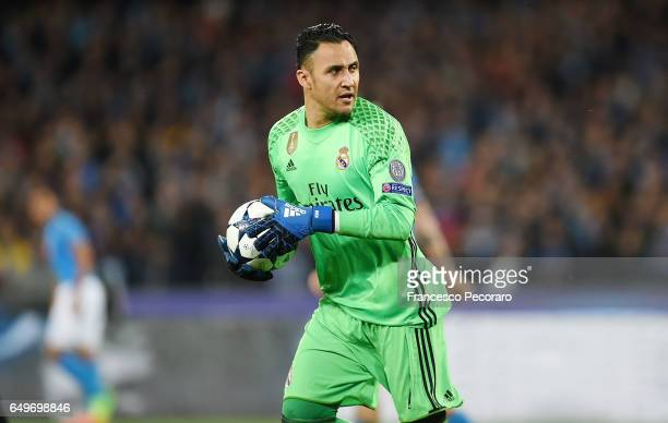 Keylor Navas of Real Madrid CF in action during the UEFA Champions League Round of 16 second leg match between SSC Napoli and Real Madrid CF at...