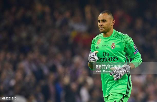 Keylor Navas of Real Madrid during the UEFA Champions League Final match between Juventus and Real Madrid at National Stadium of Wales on June 3 2017...