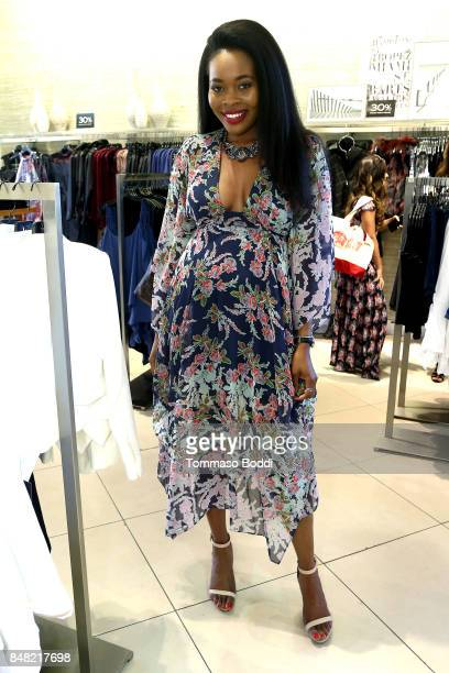 Keyma Morgan attends the Fashion Island's StyleWeekOC Presented By SIMPLY on September 16 2017 in Newport Beach California