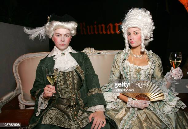 Keynan Burnett and Mindy Burnett during Launch Party For Dom Ruinart 1996 at Private Estate in Bel Air California United States