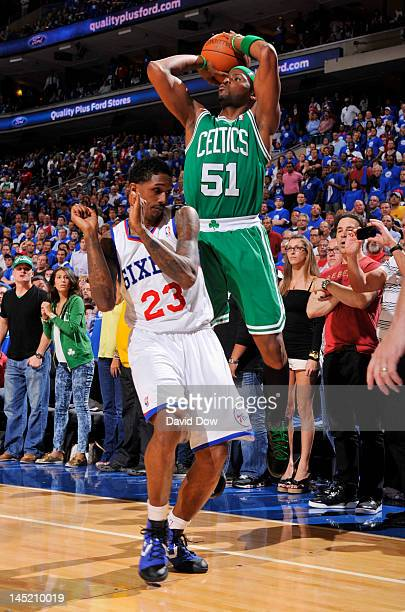 Keyon Dooling of the Boston Celtics takes a jump shot over Lou Williams of the Philadelphia 76ers in Game Six of the Eastern Conference Semifinals...