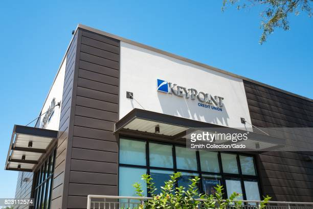 Keypoint Credit Union near the Apple Park known colloquially as The Spaceship the new headquarters of Apple Inc in the Silicon Valley town of...