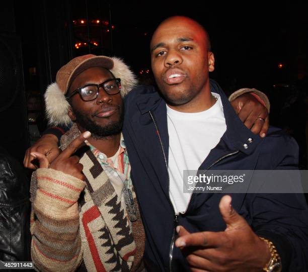 88 Keys and Consequence attend QTip's The Renaissance album release party at the Bowery Hotel on October 27 2008 in New York City