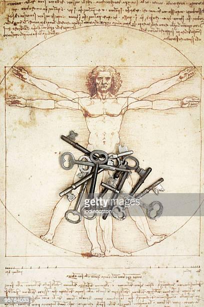 Keys and DaVinci Man Figure