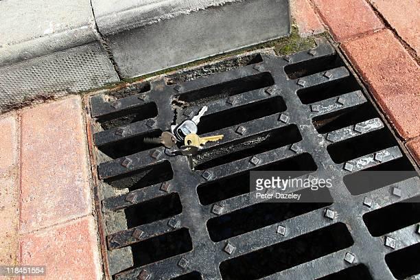 Keys falling down drain
