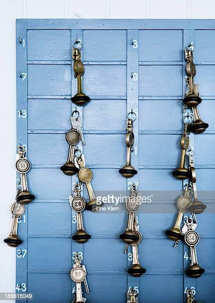 Keys handing from key hooks