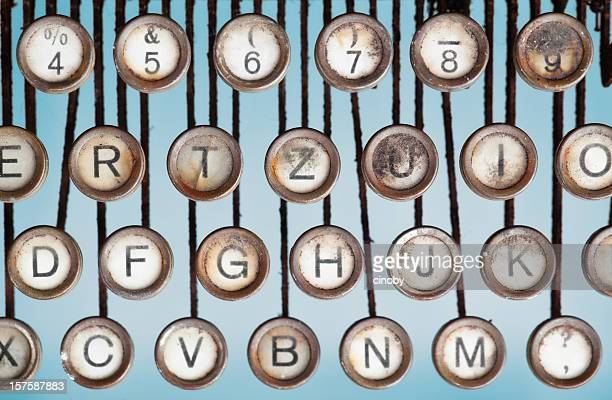 Einer alten Schreibmaschine Schlüssel