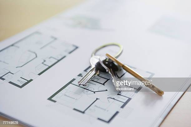 Keys on a Floor Plan