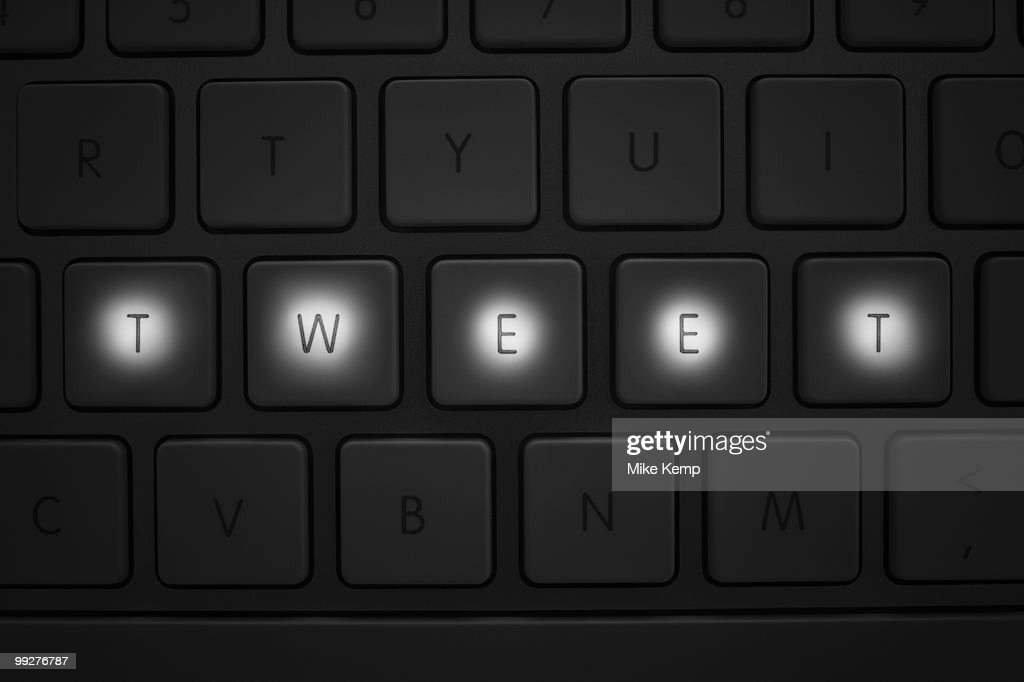 Keys on keyboard : Stock Photo