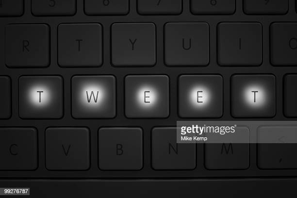 Keys on keyboard