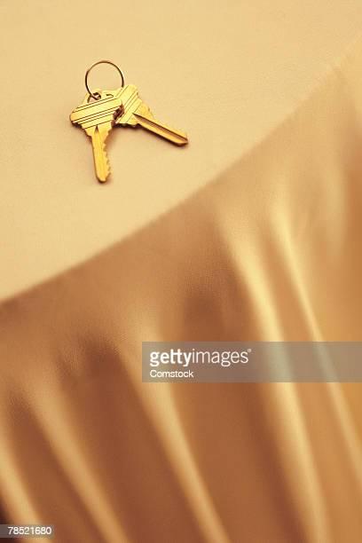 Keys on table