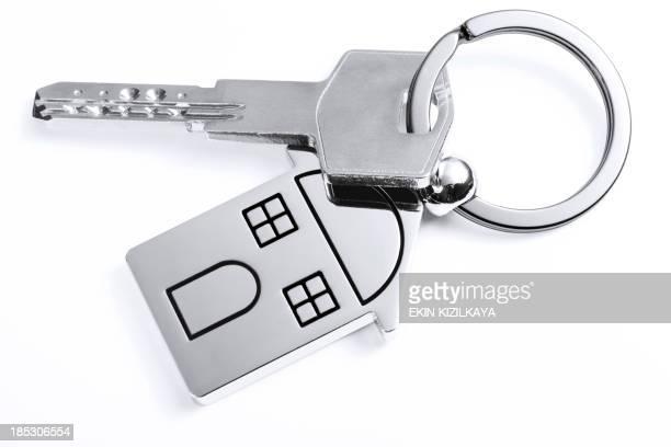 Schlüssel mit einem Haus-Schlüsselbund