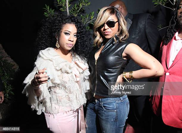 Keyshia Cole and Ashanti attend Meek Mill GRAMMY After Party at on January 26, 2014 in Los Angeles, California.