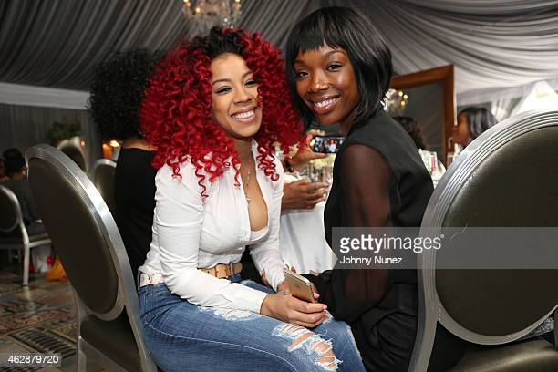Keyshia Cole and Brandy attend MILF Celebration Of Entertainment Mothers on February 6 2015 in Beverly Hills California