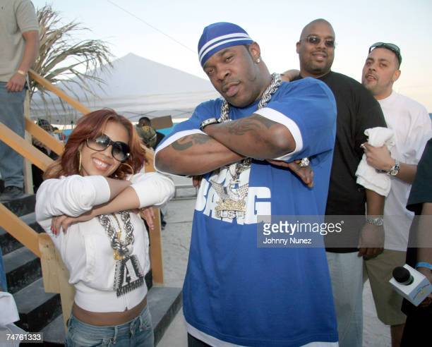 Keyshia Cole and Busta Rhymes at the Haulover Beach Park in Miami Florida