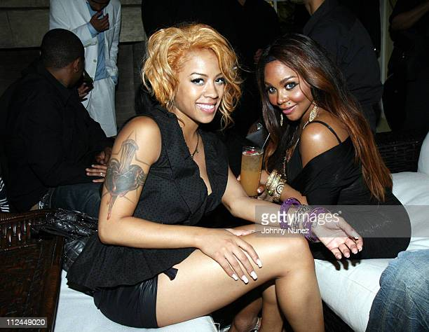 Keyshia Cole and Lil Kim during Courvoisier Exclusive Cognac Hosts Atlantic Records 60th Anniversary at Private Home in Los Angeles CA United States