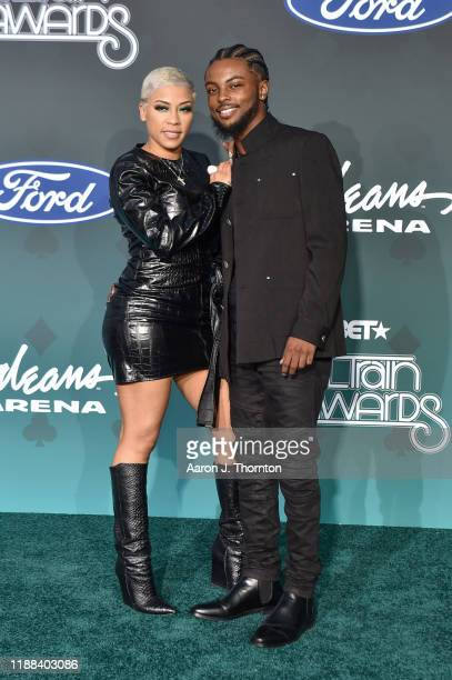 Keyshia Cole and Niko attend the Soul Train Music Awards on November 17 2019 in Las Vegas Nevada