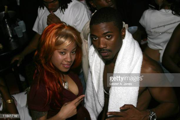 Keyshia Cole and Ray J during Hot 937 Presents Ray J Keyshia Cole TOK and Neo Live at the Hippa Drome September 3 2005 at Hippa Drome in Springfield...