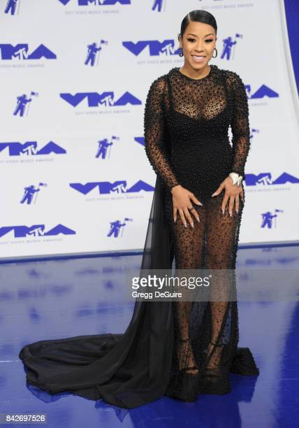 Keyshia Cole arrives at the 2017 MTV Video Music Awards at The Forum on August 27 2017 in Inglewood California