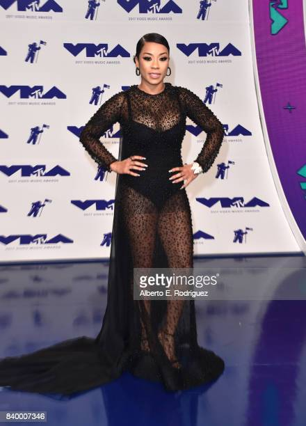Keyshia Cole attends the 2017 MTV Video Music Awards at The Forum on August 27 2017 in Inglewood California