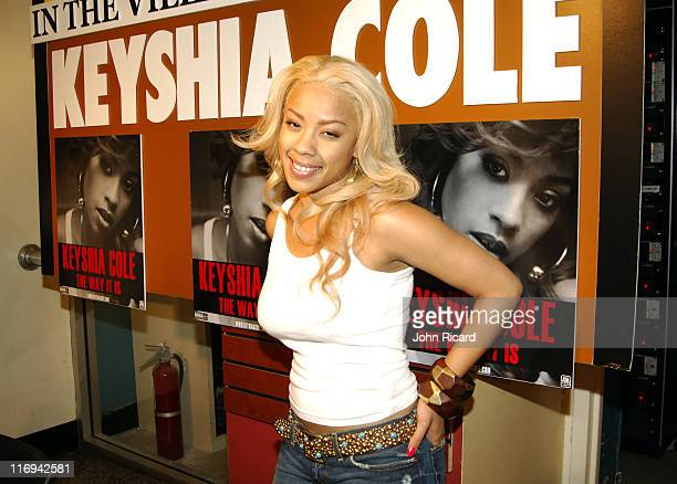Keyshia Cole during Keyshia Cole InStore Performance at Tower Records in New York City June 21 2005 at Tower Records in New York City New York United...