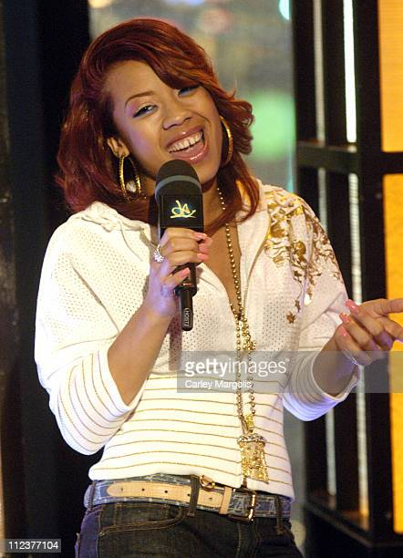 Keyshia Cole during LL Cool J TI Christina Milian Keyshia Cole Nick Cannon Young Jeezy and Yung JOC Visit MTVs 'Direct Effect' April 3 2006 at MTV...