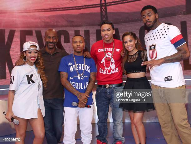 Keyshia Cole Stephen Hill Shad Moss Keshia Chante Adrian Marcel and Sage the Gemini attend 106 Park at BET studio on July 30 2014 in New York City