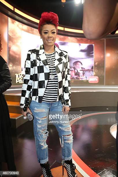 Keyshia Cole visits The BET '106 Park' Finale at BET Studios on December 19 2014 in New York City