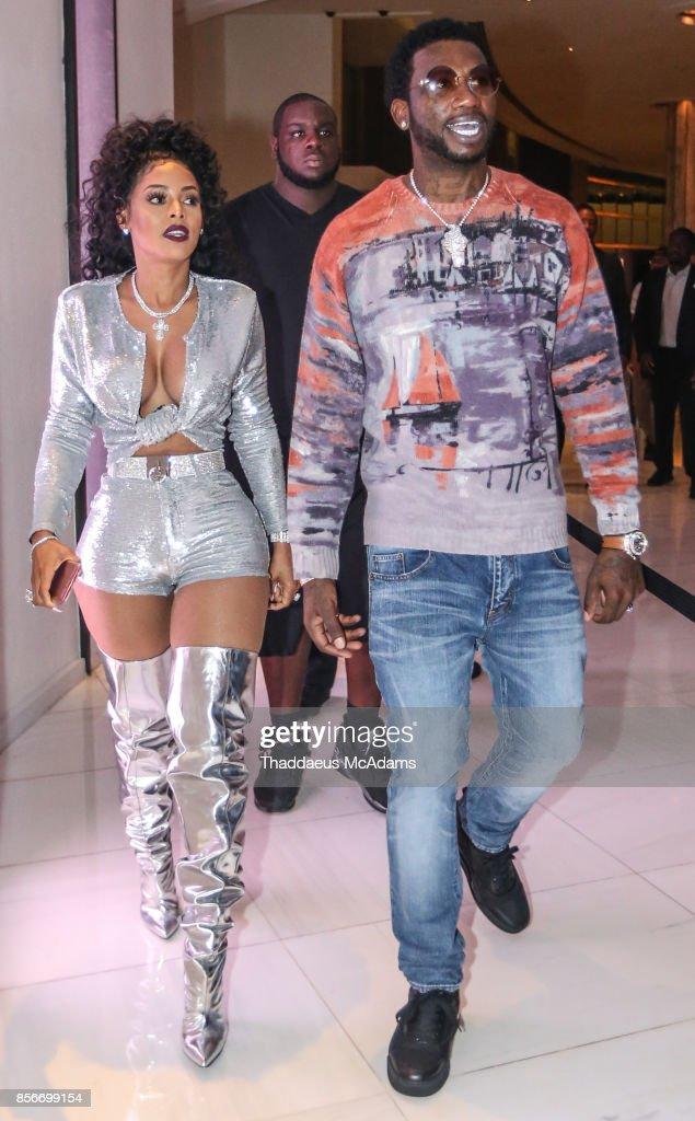 Keyshia Kaior and Gucci Mane at LIV nightclub at Fontainebleau Miami on October 1, 2017 in Miami Beach, Florida.