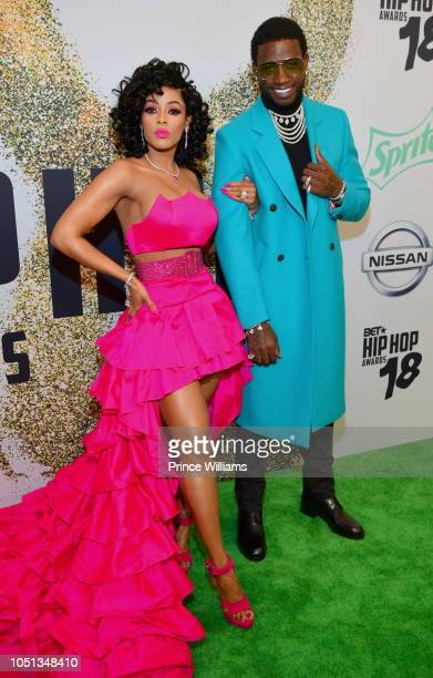 Keyshia Ka'oir and Gucci Mane arrive at the BET Hip Hop Awards 2018 at Fillmore Miami Beach on October 6 2018 in Miami Beach Florida