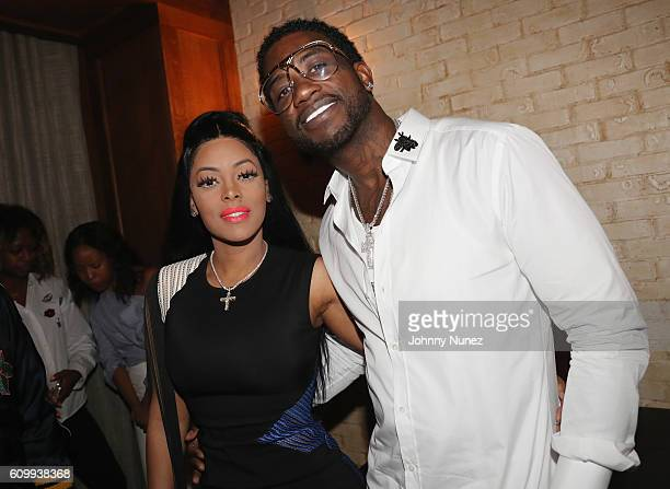 Keyshia Ka'oir and Gucci Mane attend a Gucci Mane Private Dinner at Dirty French on September 22 2016 in New York City