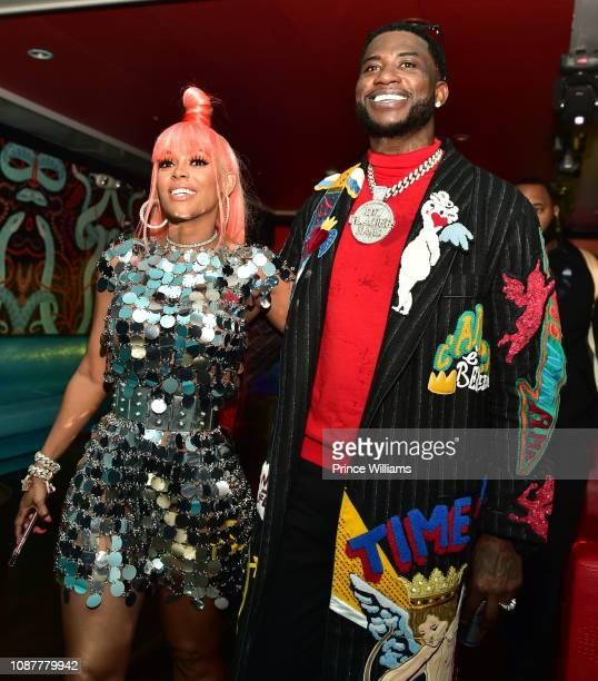 Keyshia Kaoir and Gucci Mane attend Gucci Mane Evil Genius Album Release Party at Oak on December 28 2018 in Atlanta Georgia