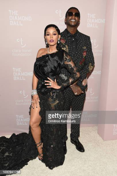 Keyshia Ka'Oir and Gucci Mane attend Rihanna's 4th Annual Diamond Ball benefitting The Clara Lionel Foundation at Cipriani Wall Street on September...