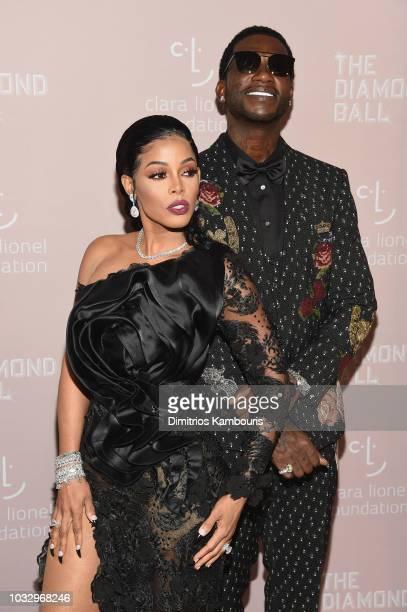 Keyshia Ka'Oir and Gucci Mane attend Rihanna's 4th Annual Diamond Ball benefitting The Clara Lionel Foundation at Cipriani Wall Street on September...