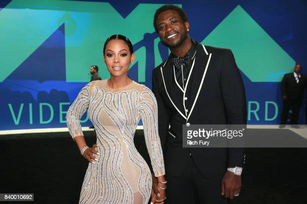 Keyshia Ka'Oir and Gucci Mane attend the 2017 MTV Video Music Awards at The Forum on August 27 2017 in Inglewood California