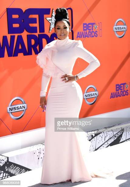 Keyshia Ka'oir arrives to the 2018 BET Awards held at Microsoft Theater on June 24 2018 in Los Angeles California