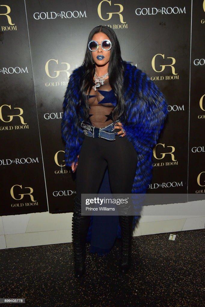 Keyshia Ka'oir attends the Gucci Mane 'El Gato The Human Glacier' album release party at Gold Room on December 22, 2017 in Atlanta, Georgia.