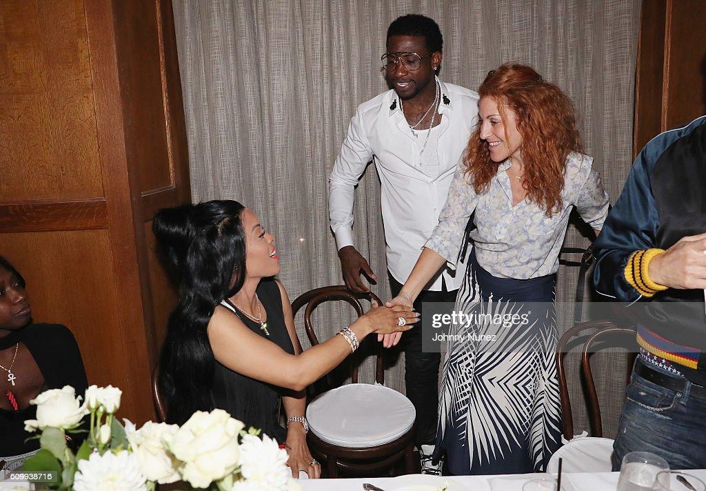 Keyshia Ka'oir, Gucci Mane and Julie Greenwald attend a