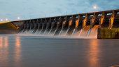 Keystone Dam at Twilight