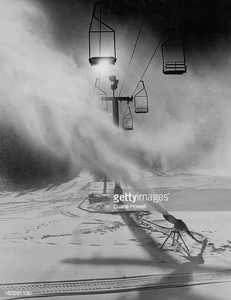 NOV 20 1977 NOV 22 1977 Keystone Leaves Nothing To Chance Snowmaking nozzles blanket practice slope as Keystone ski Area joins other areas in...