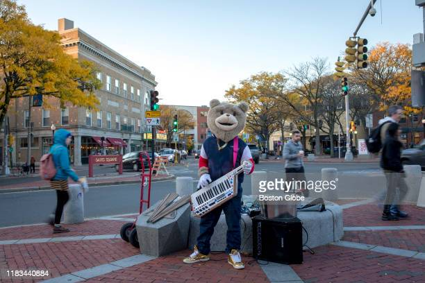 Keytar Bear plays the keytar at Davis Square in Somerville MA on Nov 2 2019 Today Davis Square still buzzes with 20something energy Weekends feature...