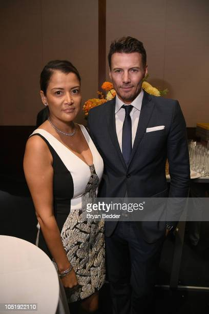 Keytt and Alex Lundqvist attend the 20th Anniversary Gala to celebrate Hudson River Park at Pier 60 on October 11 2018 in New York City