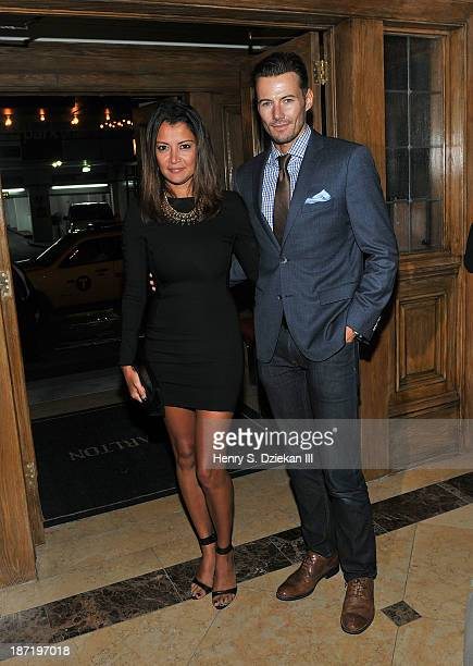 Keytt Lundgvist and Alex Lundgvist attend The Cinema Society Dior Beauty screening of Thor The Dark World after party at Marlton Hotel on November 6...