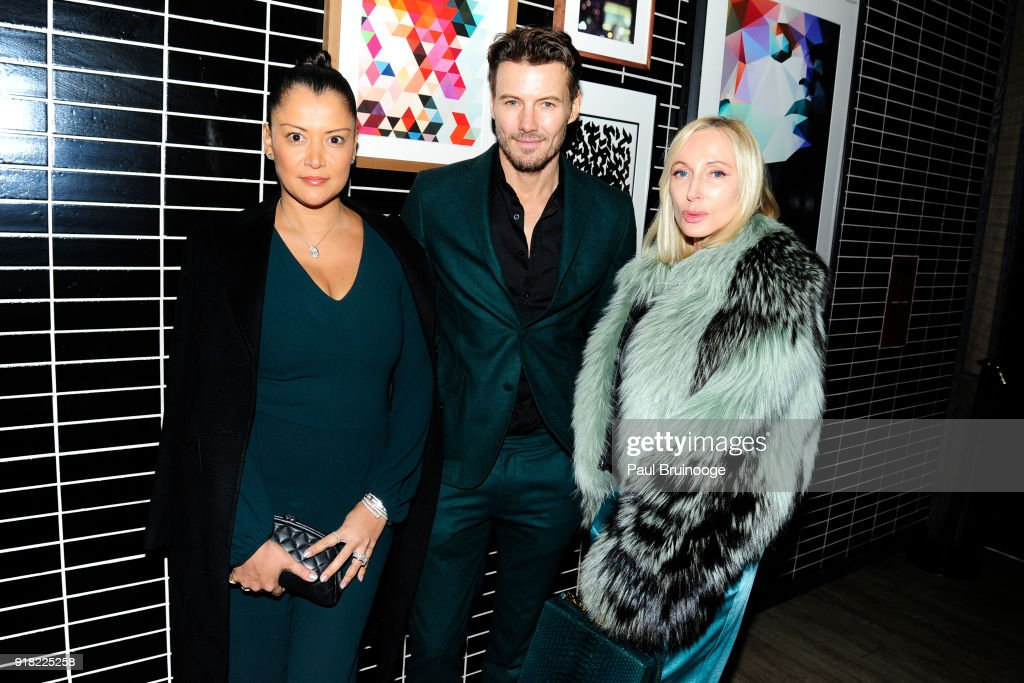 Keytt Lundqvist, Alex Lundqvist and Jackie Astier attend The Cinema Society with Ravage Wines & Synchrony host the after party for Marvel Studios' 'Black Panther' at The Skylark on February 13, 2018 in New York City.