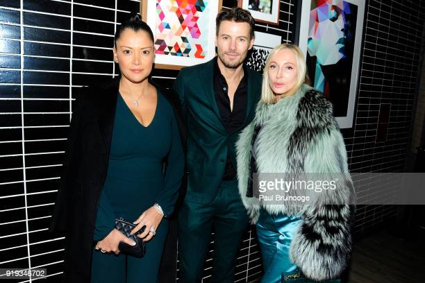 Keytt Lundqvist Alex Lundqvist and Jackie Astier attend The Cinema Society with Ravage Wines Synchrony host the after party for Marvel Studios'...