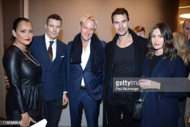Keytt Lundqvist Alex Lundqvist Daniel Benedict Kane Manera and Ashley Sherrard attend Avenue Magazine Relaunch Party at Hudson Yards on January 22...