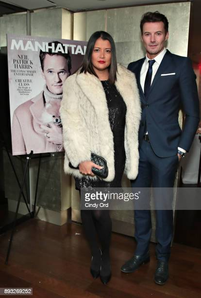 Keytt Lundqvist and Alex Lundqvist attend as Manhattan Magazine and Neil Patrick Harris celebrate the December issue at Mr Chow NYC Tribeca on...