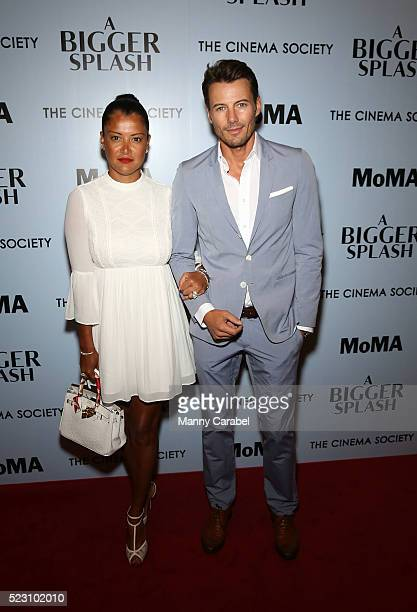 Keytt Lundqvist and Alex Lundqvist attend Fox Searchlight Pictures with The Cinema Society host a screening of 'A Bigger Splash' at Museum of Modern...