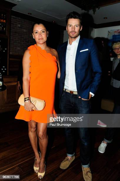 Keytt Lundqvist and Alex Lundqvist attend Global Road Entertainment With The Cinema Society Host The After Party For 'Hotel Artemis' at Society Cafe...